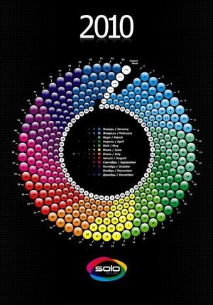 Календарь 2010 год в Креативном стиле