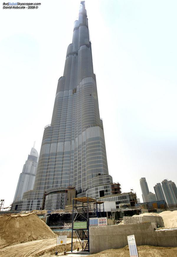 Фотографии строительства башни Burj Dubai