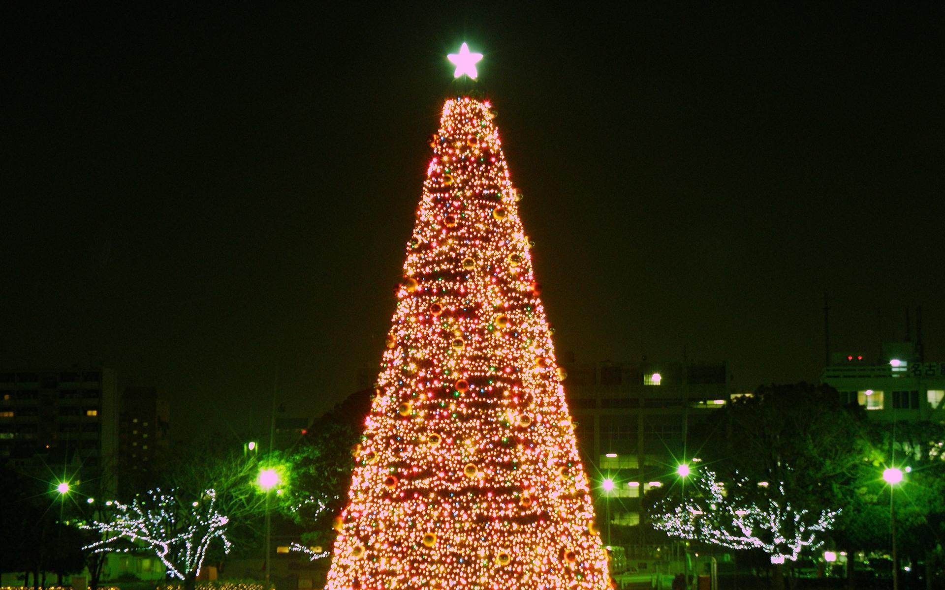 Рождество на улицах японских городов