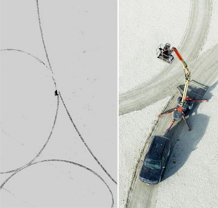 Рисунки на земле