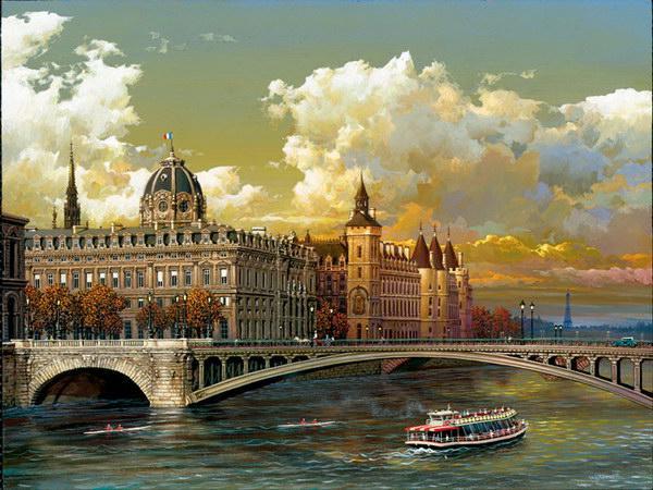 Рисованные города от Alexander Chen