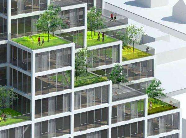 Модульное здание в центре Копенгагена