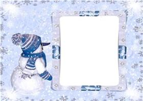 Рамочка для фото Мой Снеговичек