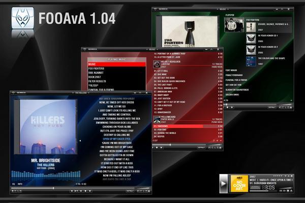 FOO AvA v1.04 - Безупречный скин для foobar2000