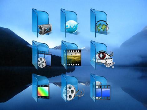 Набор иконок - My Blue Folders Icon Pack Vol. 1 2