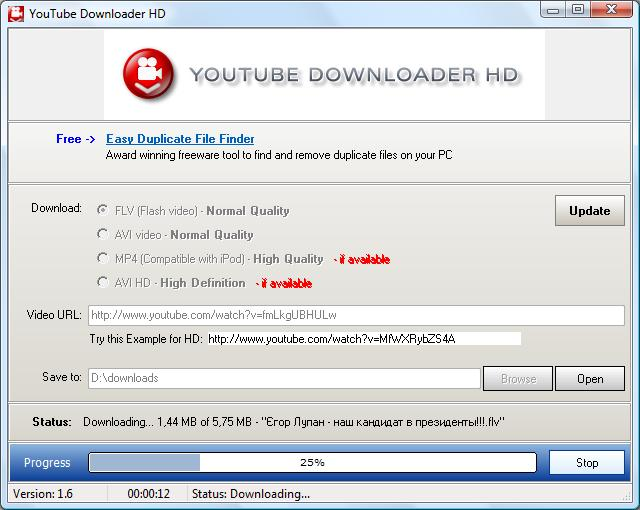 Youtube Downloader HD v1.6 Portable