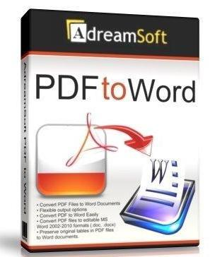 AdreamSoft PDF to Word v2.6.0.0 Rus