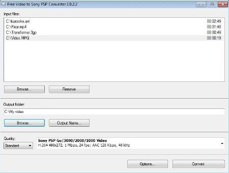 Free Video to Sony PSP Converter v2.0