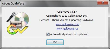 GoldWave v5.57 (2010) Rus