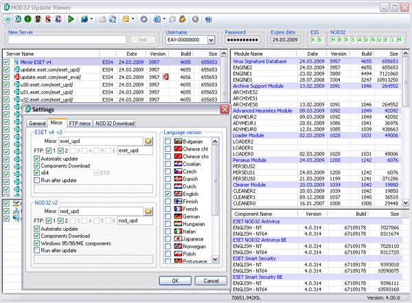 NOD32 Update Viewer v4.06.30