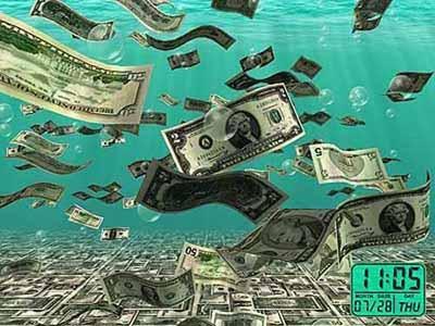 Скринсейвер - Падающие деньги