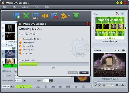 4Media DVD Creator v6.1.1 build 0610 Portable